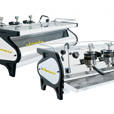 3 Group Strada MP is the most advanced machine featuring traditional La Marzocco technology.