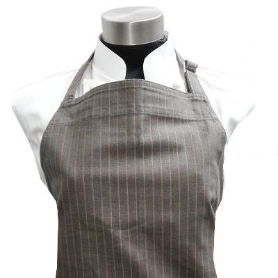 Adjustable Bib Apron - Green with Gold Stripes