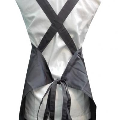 Cross Back Apron Fabric Grey New