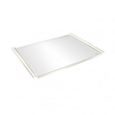 Plastic Non-Slip Black Tray with Skid ABS 325x460mm White