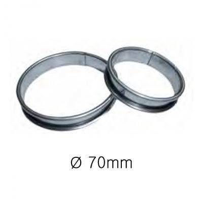 S/S Tart Ring D70mm H16mm EACH