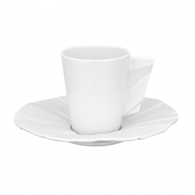 MATRIX GLAZED - Coffee Cup & Saucer
